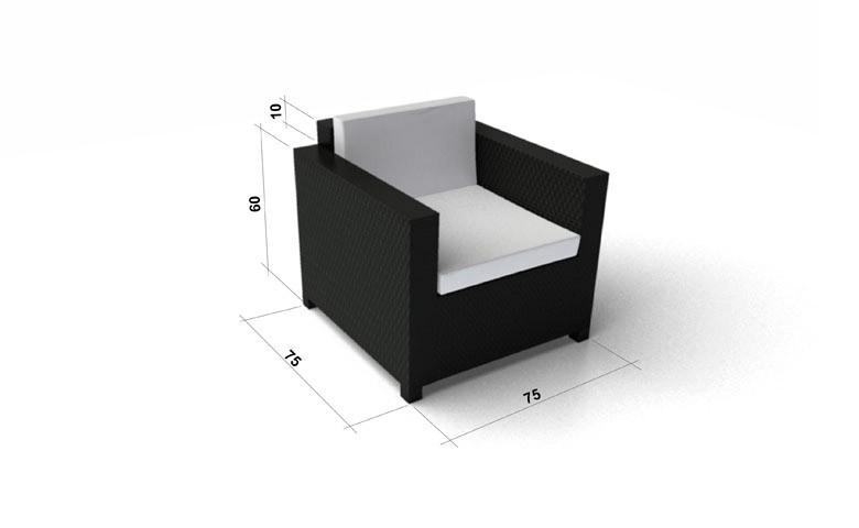 rattan lounge luxury gartenm bel schwarz. Black Bedroom Furniture Sets. Home Design Ideas