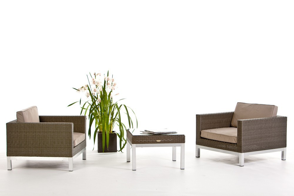 Rattan lounge shine for Lounge gartenmobel rattan