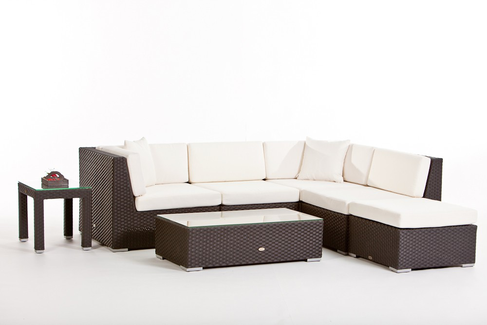 Rattan lounge bermuda fusshocker for Lounge gartenmobel rattan