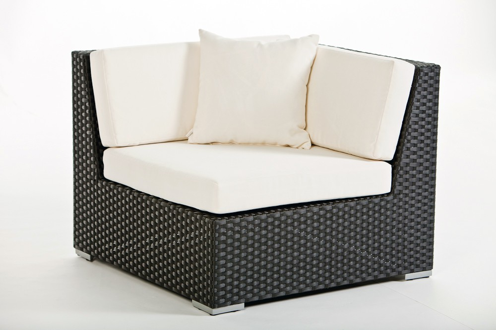 rattan lounge tranquillo schwarz bequemes gartenm bel set f r sitzplatz und terrasse. Black Bedroom Furniture Sets. Home Design Ideas