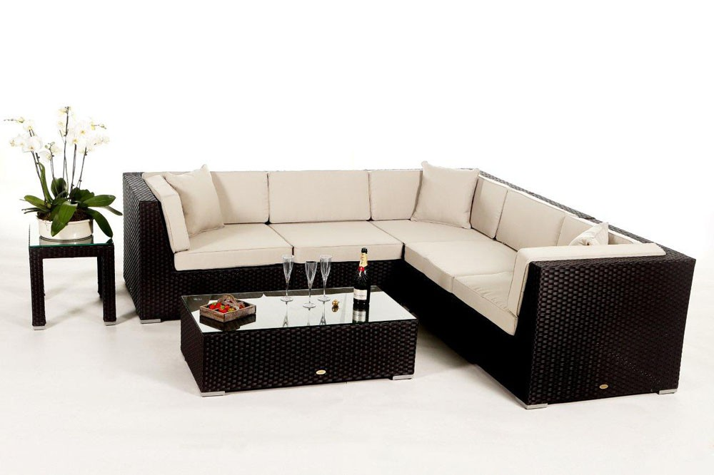 shangrila lounge in braun rattan gartenm bel set f r. Black Bedroom Furniture Sets. Home Design Ideas