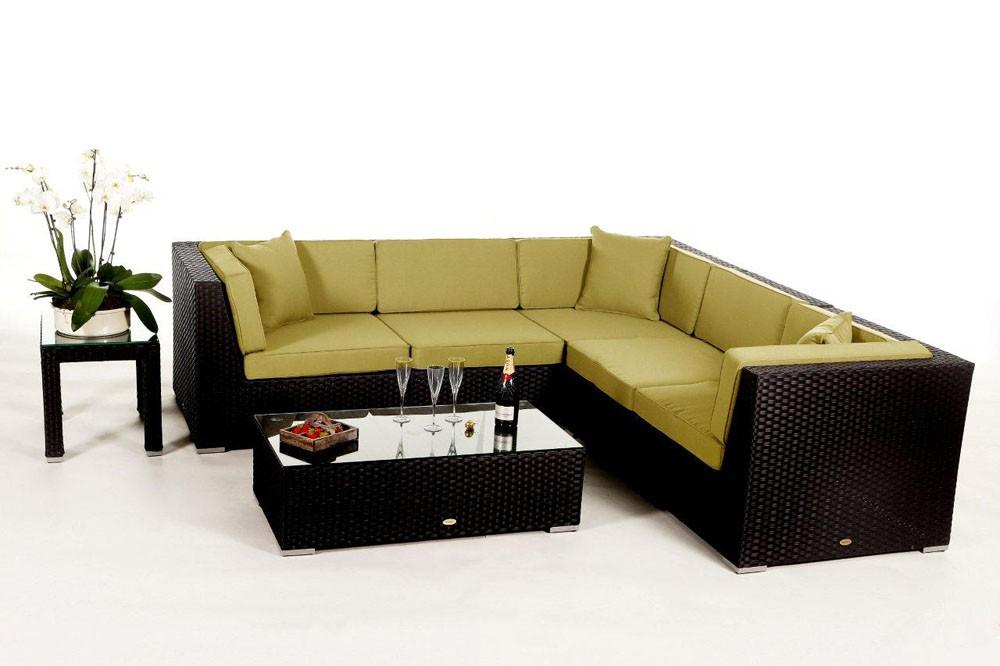 shangrila lounge in schwarz rattan gartenm bel set f r. Black Bedroom Furniture Sets. Home Design Ideas