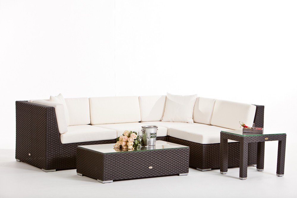 rattan lounge individuell zusammenstellen gartenm bel. Black Bedroom Furniture Sets. Home Design Ideas
