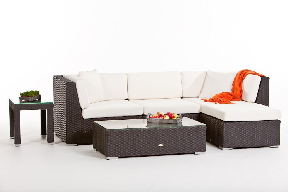 Gartenmobel Eisen Weiss : Rattan Gartenmöbel Sitzgruppe Individual Lounge mit Sonnenschirm