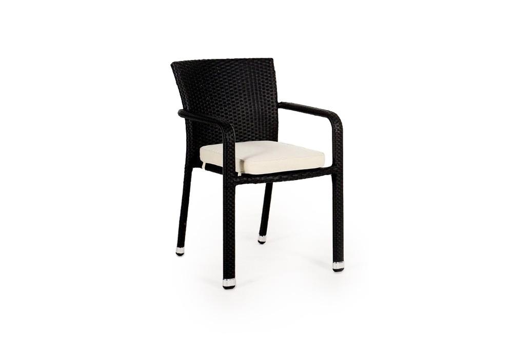 stuhl garten tisch rattan tischset schwarz. Black Bedroom Furniture Sets. Home Design Ideas