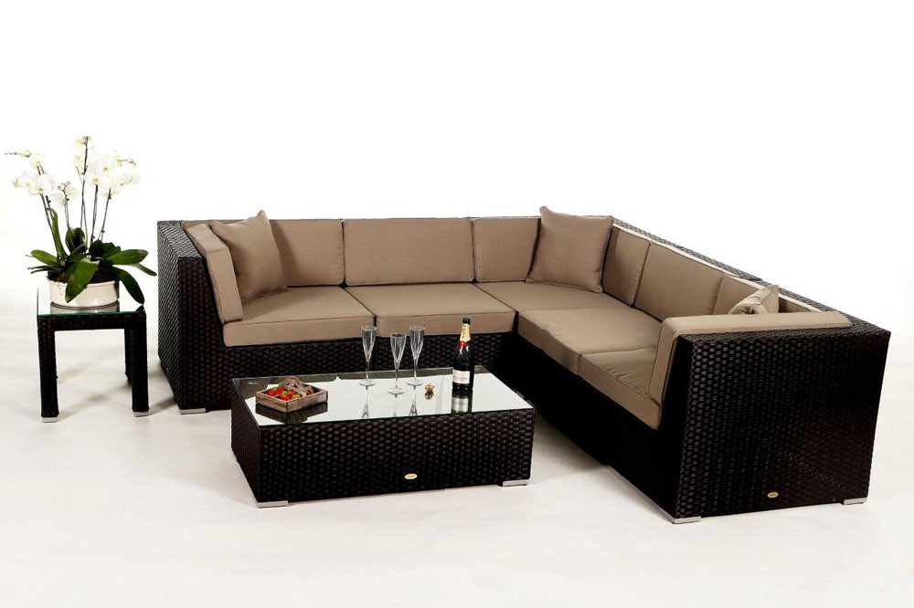 shangrila rattan gartenm bel rattan lounge berzug polsterbez ge verschiedene farben. Black Bedroom Furniture Sets. Home Design Ideas