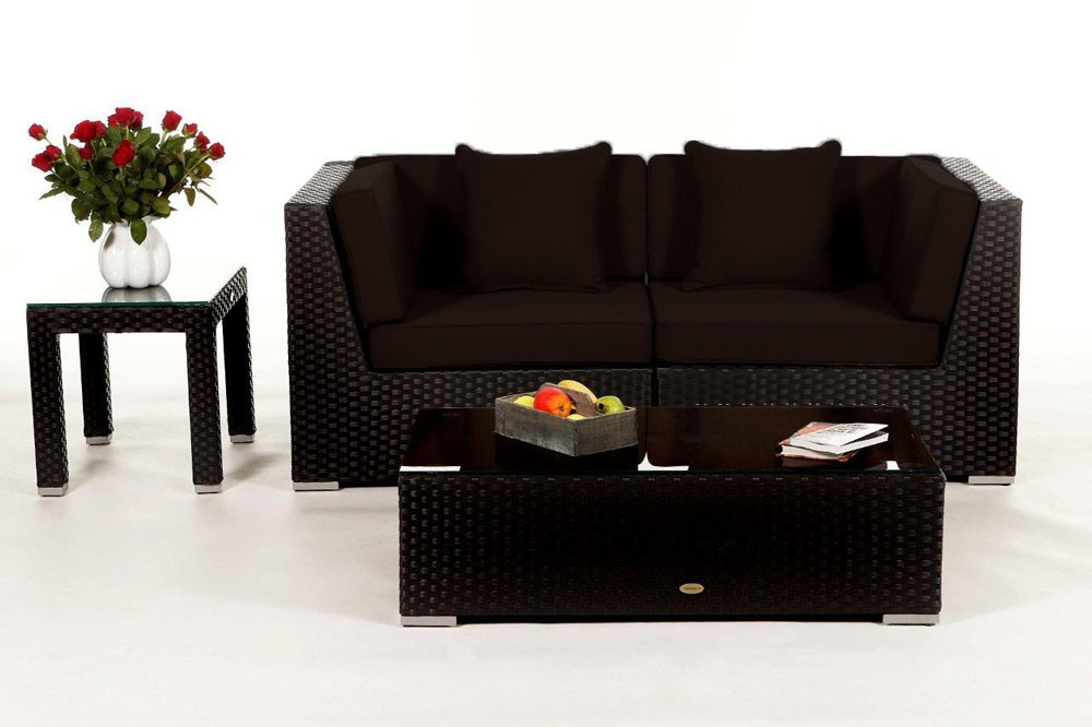 rattan lounge sunrise das gartenm bel set f r terrasse. Black Bedroom Furniture Sets. Home Design Ideas