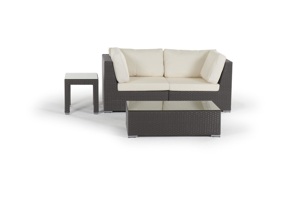 rattan lounge sunset gartenm bel set braun. Black Bedroom Furniture Sets. Home Design Ideas