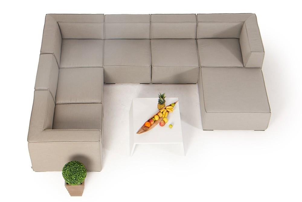 outdoor lounge allwetter lounge gartenlounge bormeo sandbraun. Black Bedroom Furniture Sets. Home Design Ideas