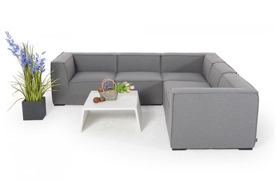 Allwetter Lounge - wetterfeste Gartensofas - Gartensofa - Selma - grau