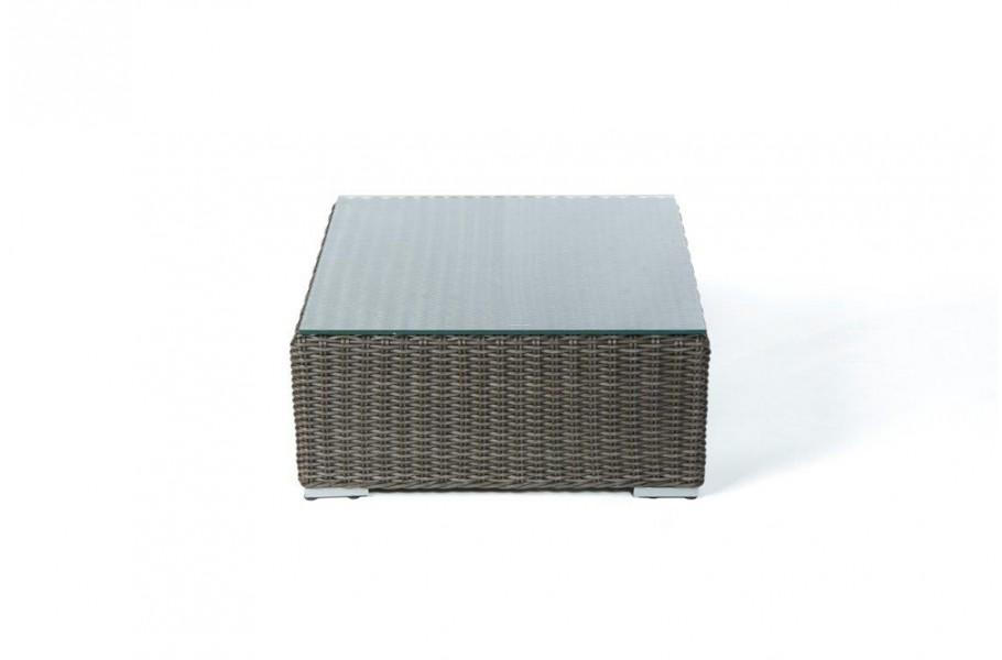 rattan lounge glasplatte f r fusshocker. Black Bedroom Furniture Sets. Home Design Ideas