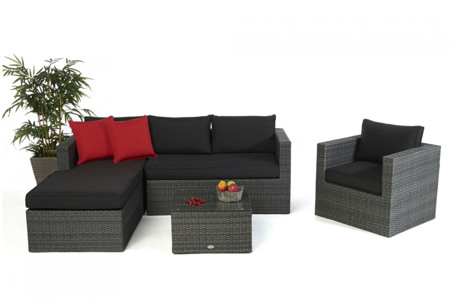 rattan lounge brooklyn das gartenm bel set f r terrasse und garten. Black Bedroom Furniture Sets. Home Design Ideas