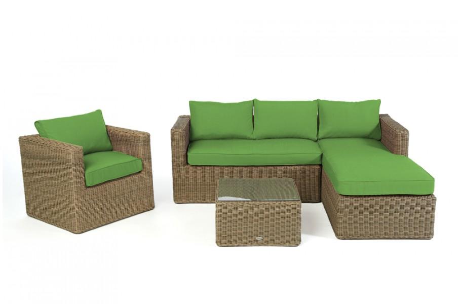 gartenm bel berzug gr n f r brooklyn rattan lounge. Black Bedroom Furniture Sets. Home Design Ideas