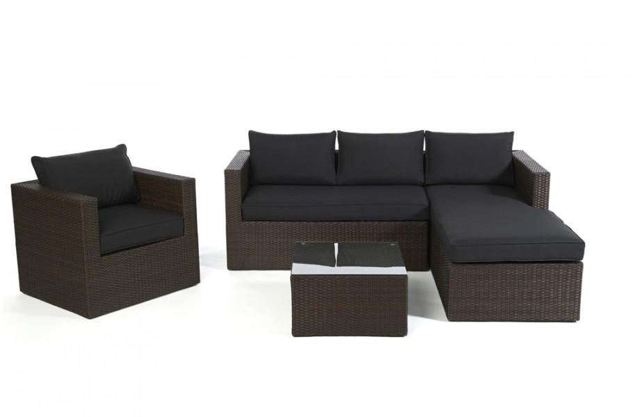 berzug schwarz f r brooklyn rattan lounge. Black Bedroom Furniture Sets. Home Design Ideas
