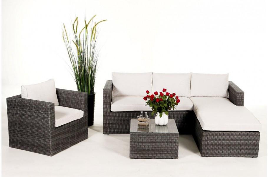 gartenm bel berzug beige f r brooklyn rattan lounge. Black Bedroom Furniture Sets. Home Design Ideas