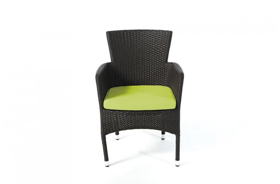 polsterbezug in gr n f r rattan stuhl california dark braun. Black Bedroom Furniture Sets. Home Design Ideas