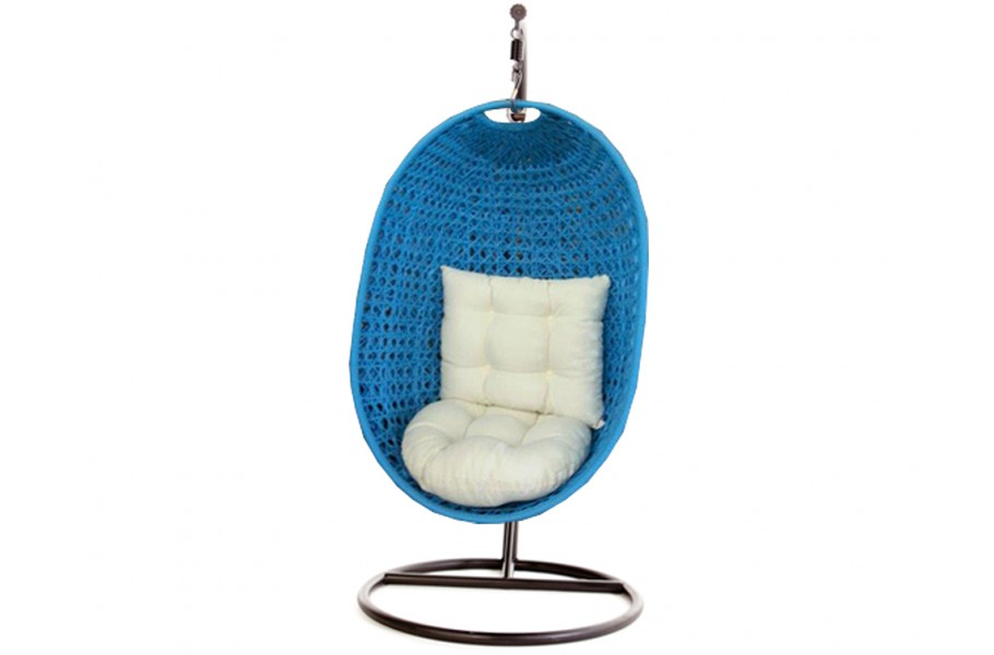 calimero hanging chair rattan blau. Black Bedroom Furniture Sets. Home Design Ideas