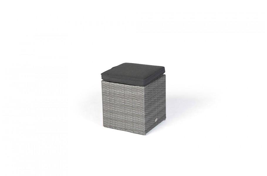 ellis rattan lounge gartenm bel hocker mix grau. Black Bedroom Furniture Sets. Home Design Ideas