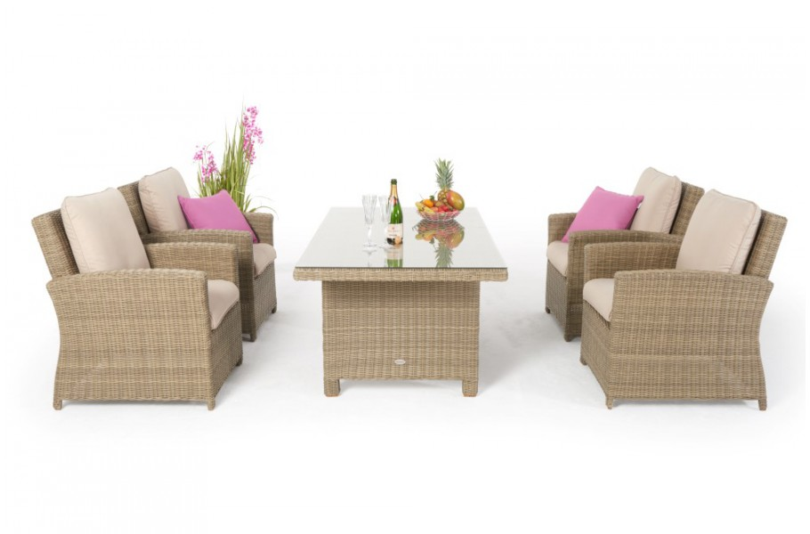 Rattan Tisch Mit 4 Stühlen Esstisch Set Ellis Gartenmöbel