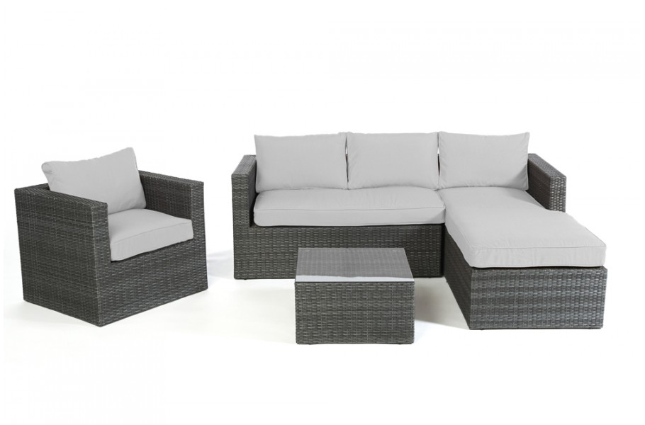 berzug grau f r brooklyn rattan lounge. Black Bedroom Furniture Sets. Home Design Ideas