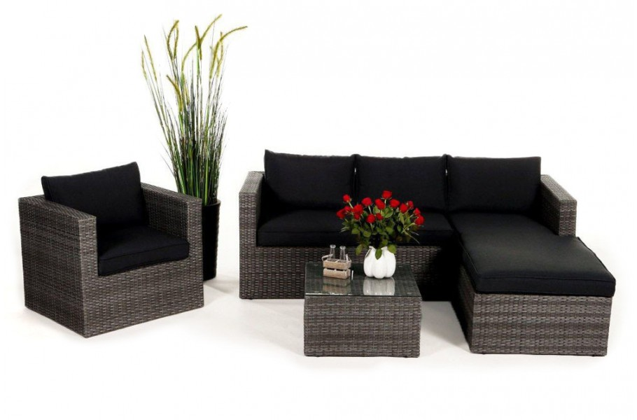 Bon Elegant Brooklyn Rattan Gartenmbel Lounge Mix Grau With Lounge Garten