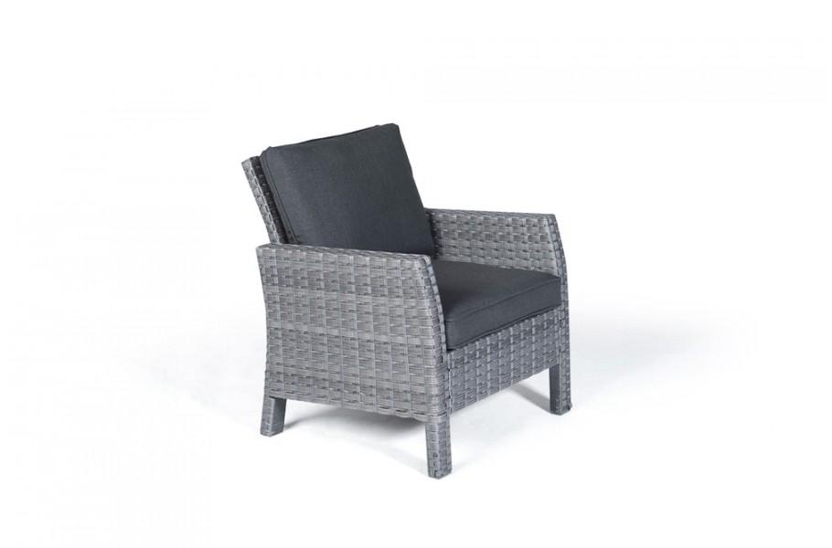 manchester rattan lounge gartenm bel sessel mix grau. Black Bedroom Furniture Sets. Home Design Ideas