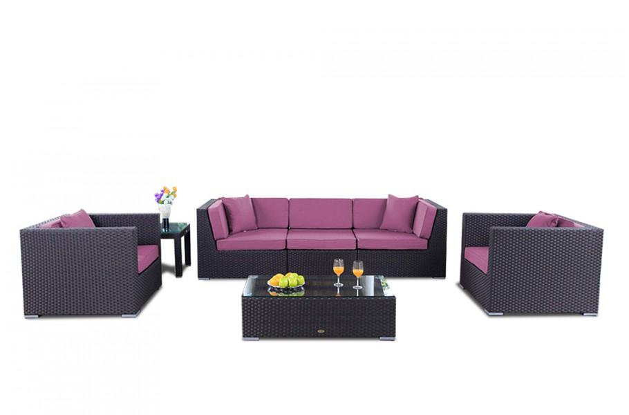 Gartenmöbel Cabana Lounge - Überzugset - Lila
