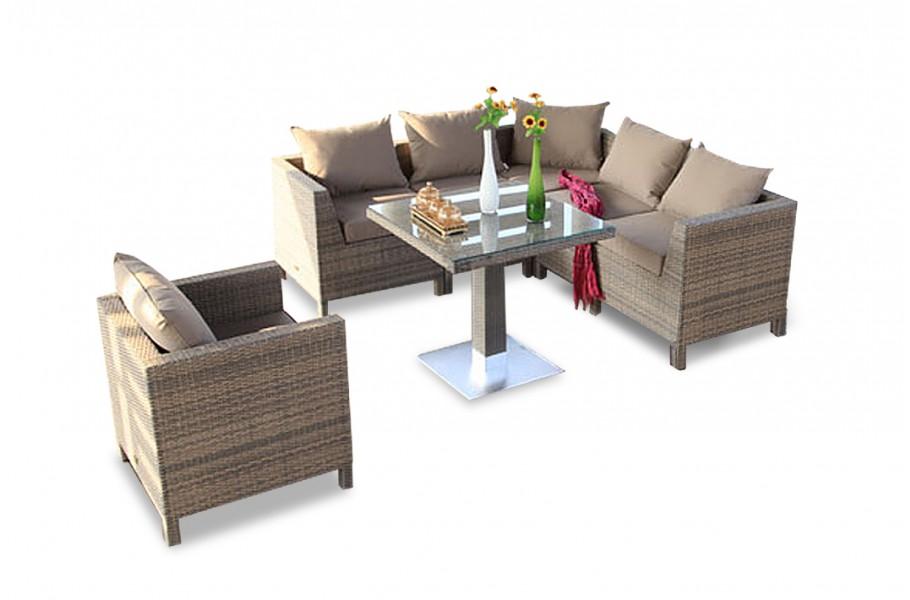 Gartenmöbel Tisch Eckbank Pandora Sandstorm