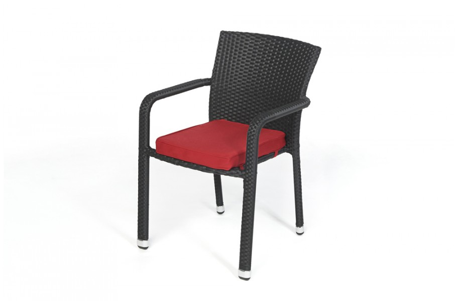 polsterbezug in rot f r rattan stuhl orlando. Black Bedroom Furniture Sets. Home Design Ideas