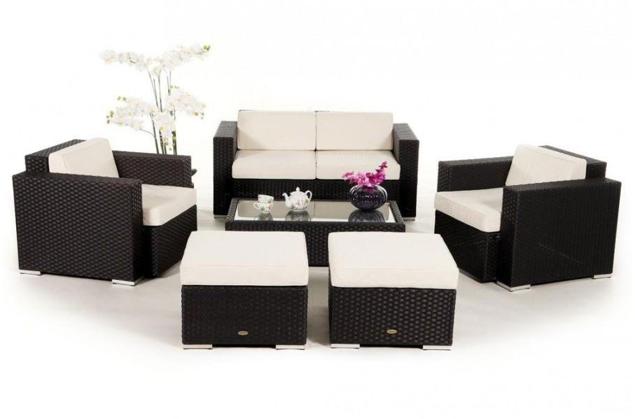 hamilton rattan lounge in braun ein 6 teiliges. Black Bedroom Furniture Sets. Home Design Ideas
