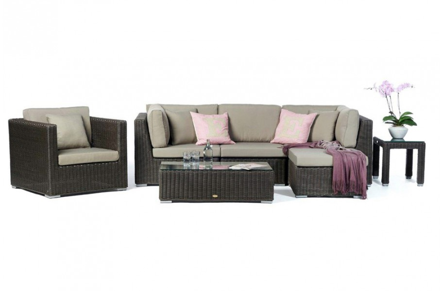 rattan gartenm bel lounge laguna special braun. Black Bedroom Furniture Sets. Home Design Ideas