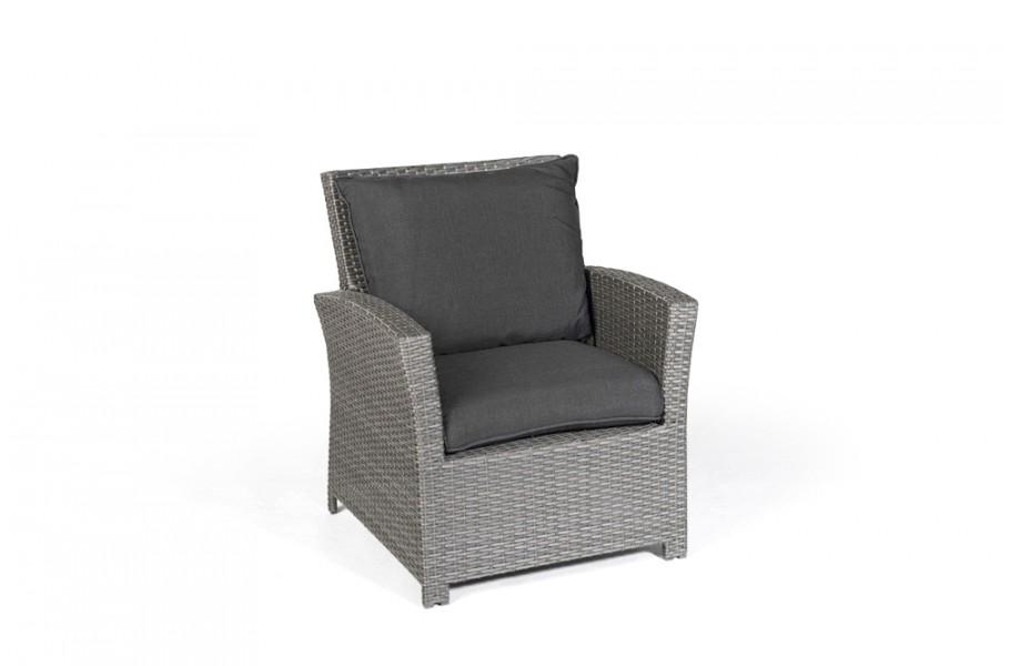 Lea Rattan Lounge Gartenmobel Sessel Mix Grau