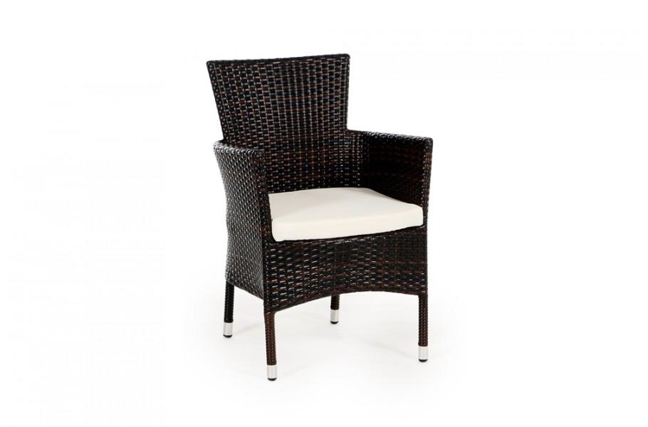Stuhl garten tisch rattan tischset schwarz for Rattan gartenmobel schwarz