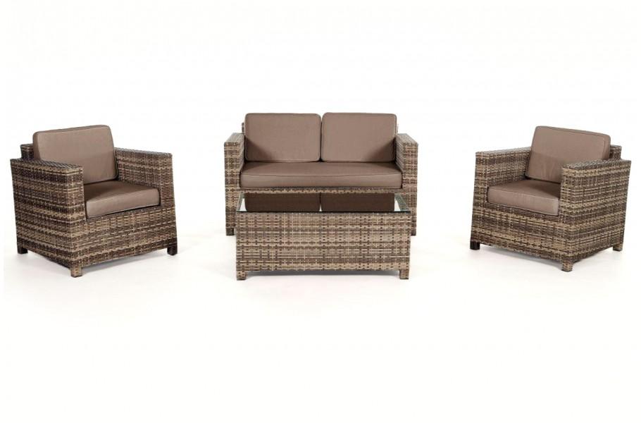 Rattan Gartenmöbel Lounge Sitzgruppe Luxury Natural