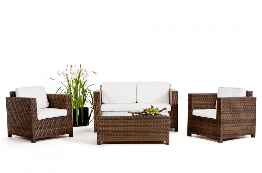 luxury rattan gartenm bel lounge braun. Black Bedroom Furniture Sets. Home Design Ideas