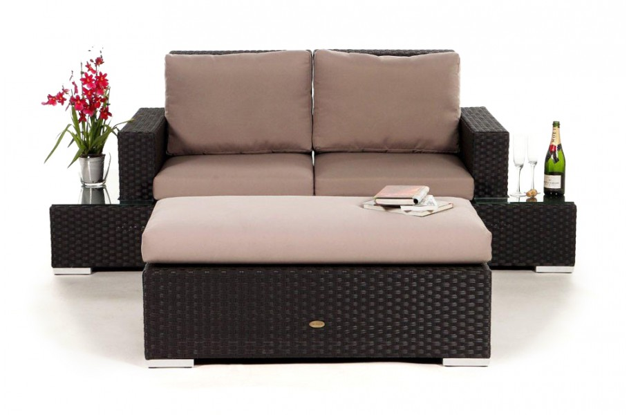 rattan lounge media luna das gartenm bel set f r terrasse und garten. Black Bedroom Furniture Sets. Home Design Ideas