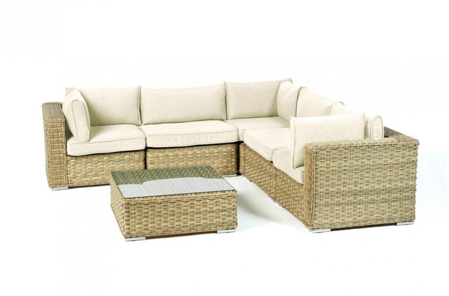 gartenm bel berzug beige f r mykonos rattan lounge. Black Bedroom Furniture Sets. Home Design Ideas