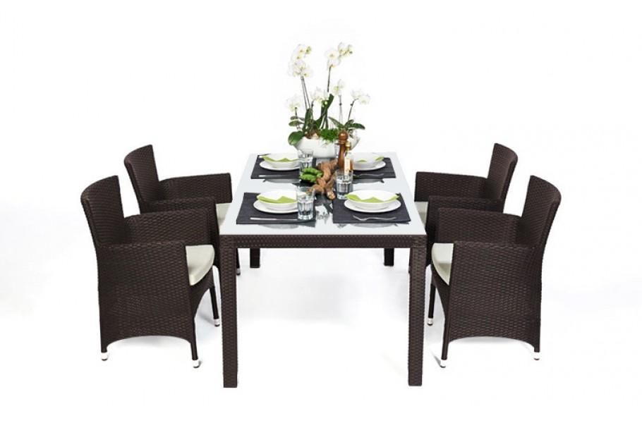 rattan gartenm bel rattan tische und st hle nairobi dark braun. Black Bedroom Furniture Sets. Home Design Ideas