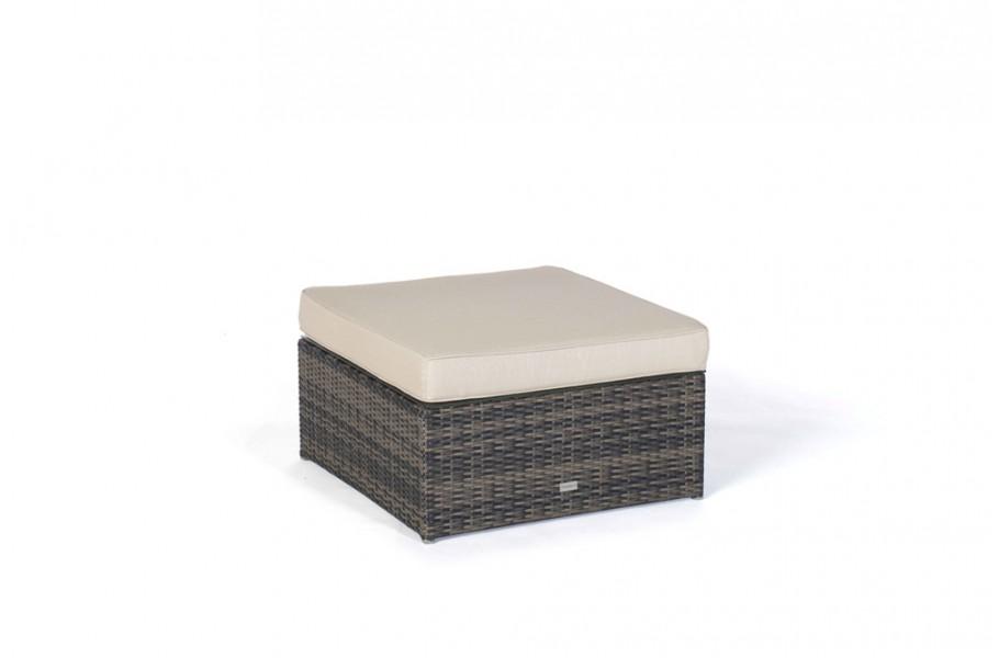 panda rattan lounge braun hocker mit polster. Black Bedroom Furniture Sets. Home Design Ideas