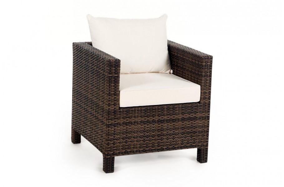 sessel mit armlehne mix braun rattan gartenm bel pandora. Black Bedroom Furniture Sets. Home Design Ideas