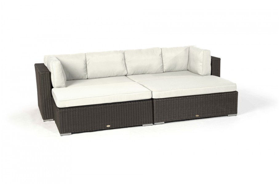 rattan garten bel lounge milano berzugset beige. Black Bedroom Furniture Sets. Home Design Ideas