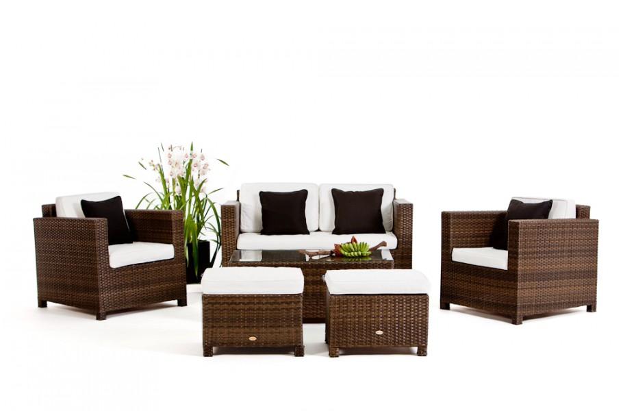 luxury deluxe braun das gartenm belset f r terrasse und garten. Black Bedroom Furniture Sets. Home Design Ideas