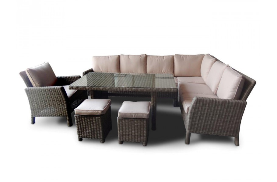 manchester rattan lounge rattan tisch sitzgruppe natural round. Black Bedroom Furniture Sets. Home Design Ideas