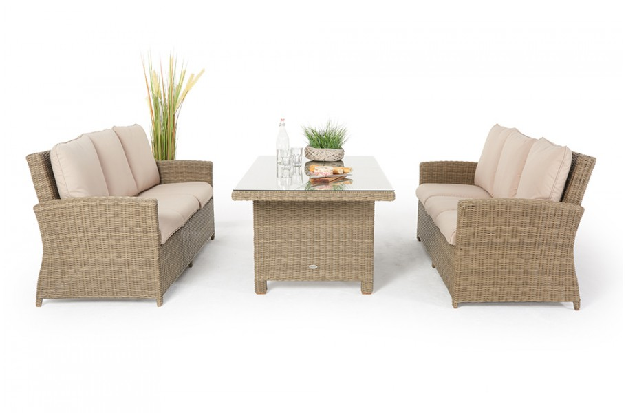rattan lounge dining rattan loungetisch lea natural. Black Bedroom Furniture Sets. Home Design Ideas