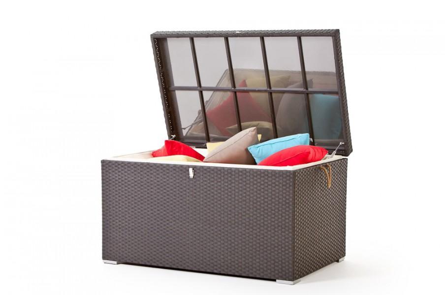 rattan gartenm bel rattan kissenbox pillowbox gross braun. Black Bedroom Furniture Sets. Home Design Ideas
