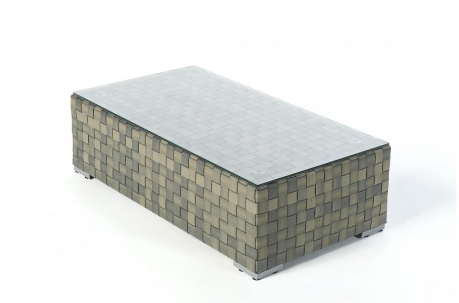 Rattan Lounge Glasplatte Bank