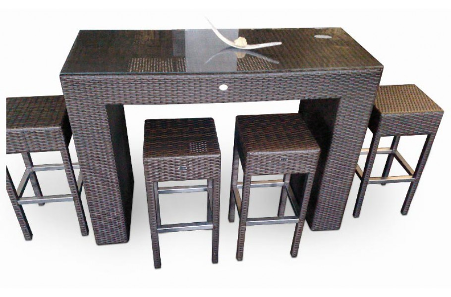 rattan bar mini das m belset f r drinnen und draussen. Black Bedroom Furniture Sets. Home Design Ideas