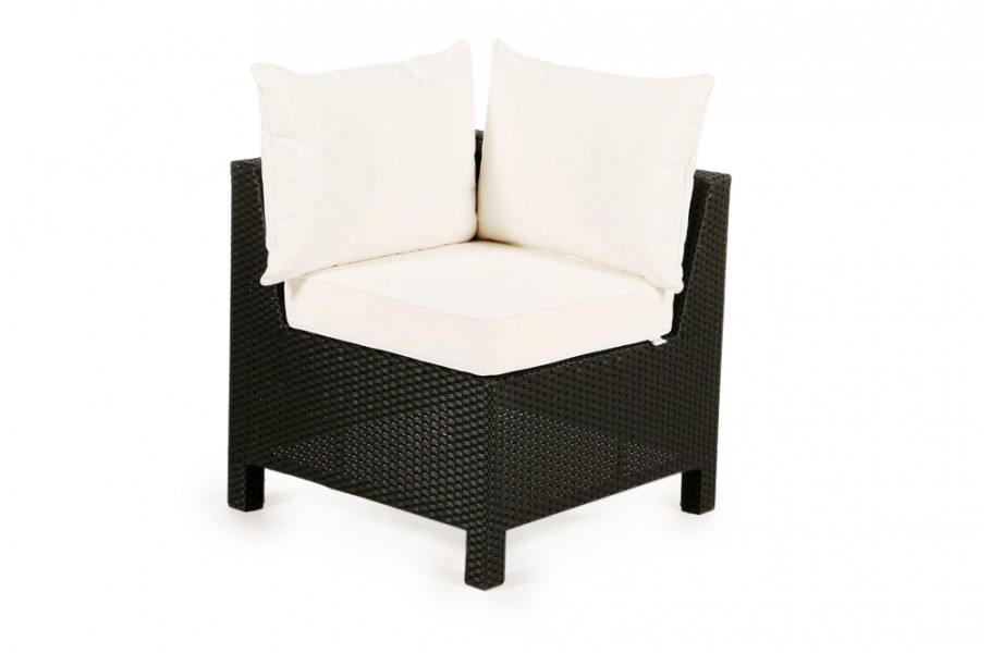 pandora rattan lounge eckteil schwarz rattan gartenm bel f r terrasse garten oder balkon. Black Bedroom Furniture Sets. Home Design Ideas