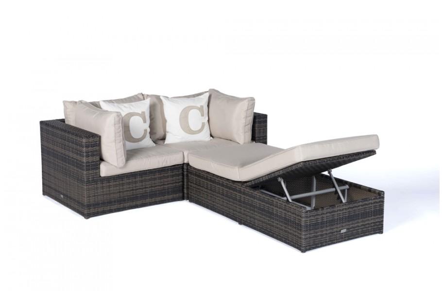 rattan lounge gartenm246bel panda braun