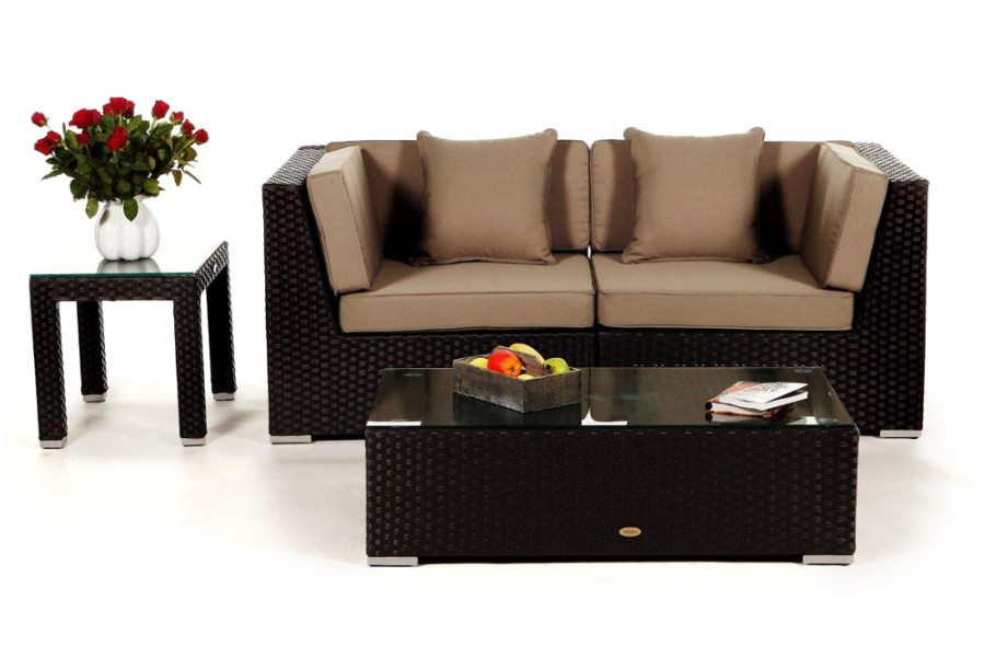 rattan lounge sunrise das gartenm bel set f r terrasse und garten. Black Bedroom Furniture Sets. Home Design Ideas